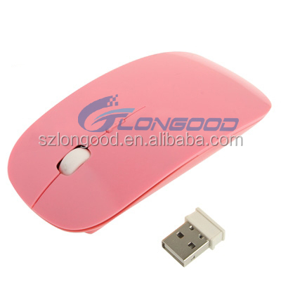 Unique Design Ultra Thin USB Optical Wireless Mouse 2.4G Receiver Mouse For PC