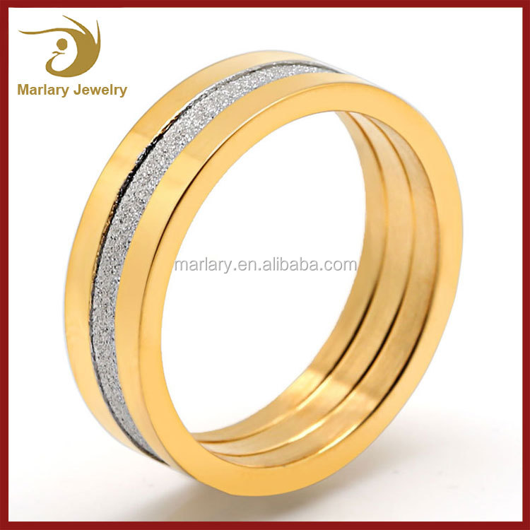Bulk Sale 18K Gold Plated Stainless Steel Ring Wholesale Jewelry Boys Finger Rings