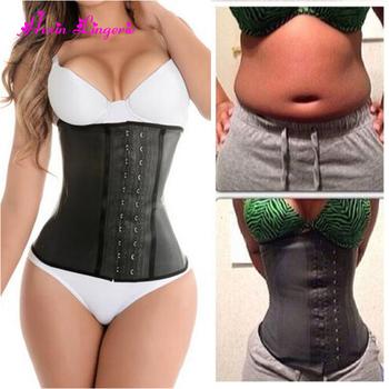 49ed3420577e7 Wholesale cincher citi trends body shaper waist trainer zip latex corset  amazon