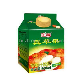 multilayer gable top carton/milk juice carton/paper milk carton