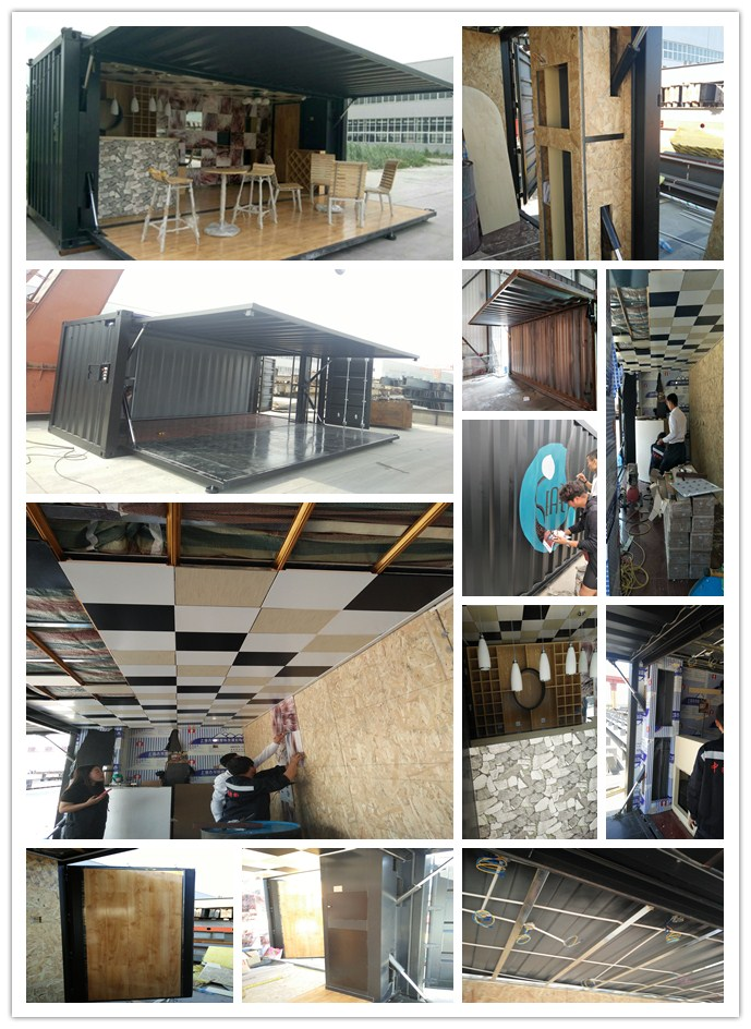 Özelleştirilmiş marka yeni veya kullanılmış 40ft konteyner ev ofis kahve dükkanı