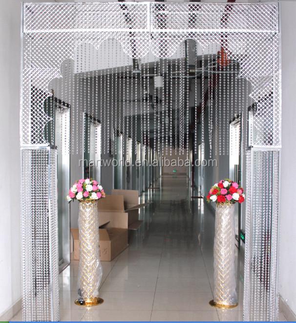 2018 New Design Metal Crystal Wedding Stage Backdrop Decoration For Crystal Wedding Decorations
