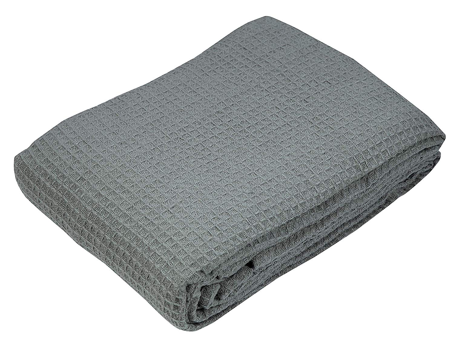 100% Soft Premium Cotton Thermal Blanket in Waffle Weave- Twin 60x90 Charcoal - Snuggle in These Super Soft,Breathable Cozy Cotton Blankets - Perfect for Layering Any Bed - Provides Comfort