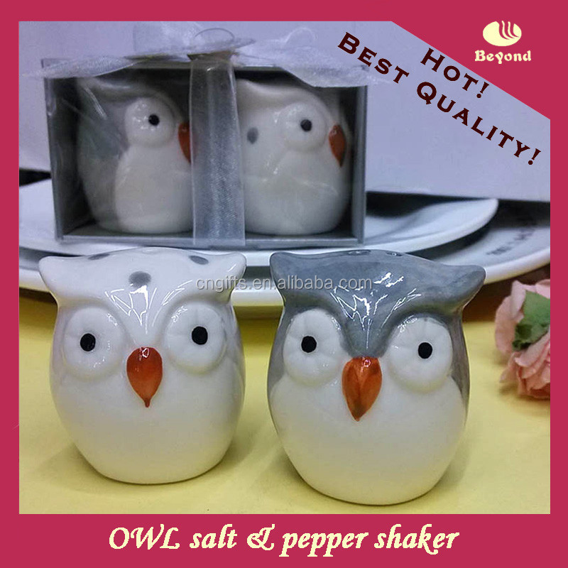 Wedding Thank You Gifts For Guests Owl Ceramic Salt And Pepper