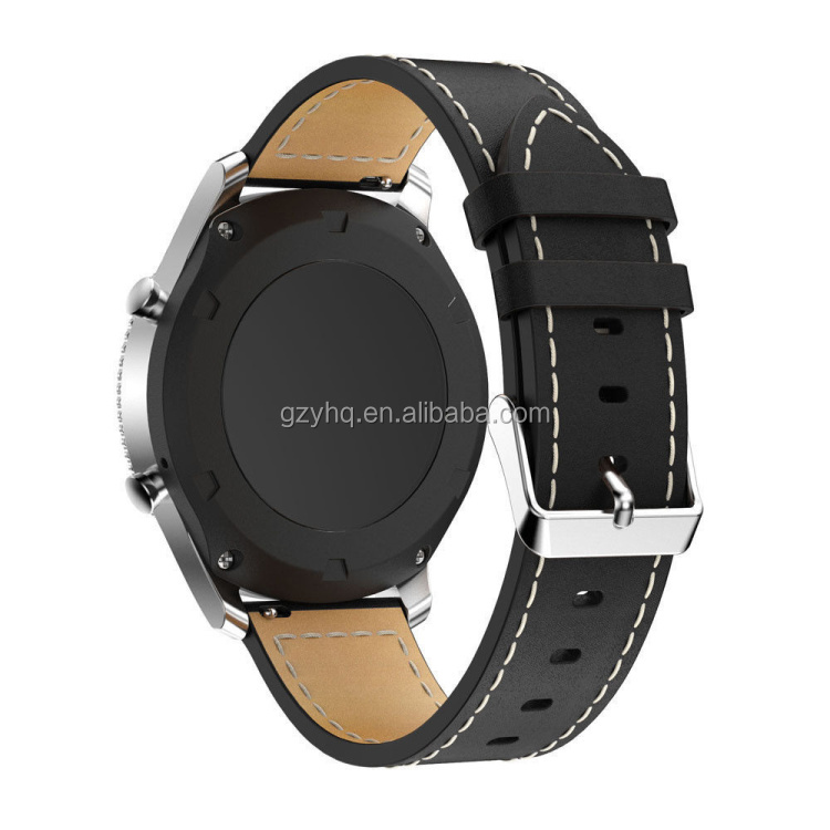 Genuine Smart Watch Bracelet Qucik Release Leather watch Band Strap Wristband For SAMSUNG GEAR S3 Watch Straps Leather 22mm