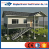 cheap light steel structure two layers prefabricated house and villa