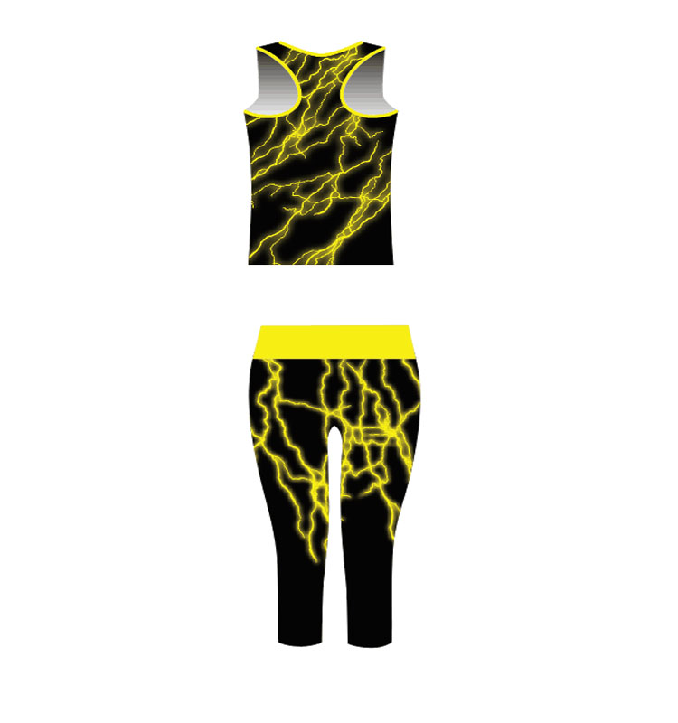 Newest Customize High Quality Ladies Crop Top Capri Practice Wear Cheerleading Uniforms
