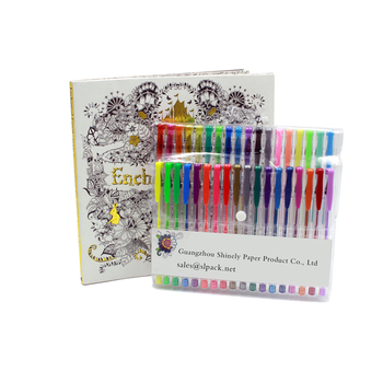 Custom Kids Or Adult Coloring Book Printing For Adults Relaxation With Gel Pen Set