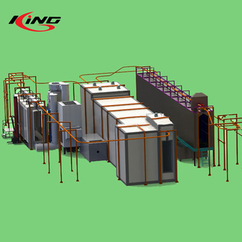 automatic golden supplier assembly powder coating line