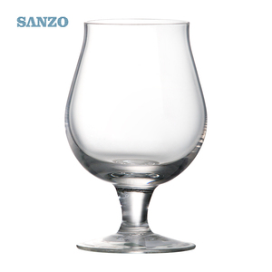 Customized 500ml thick stem hand blown crystal funny beer glasses for parties