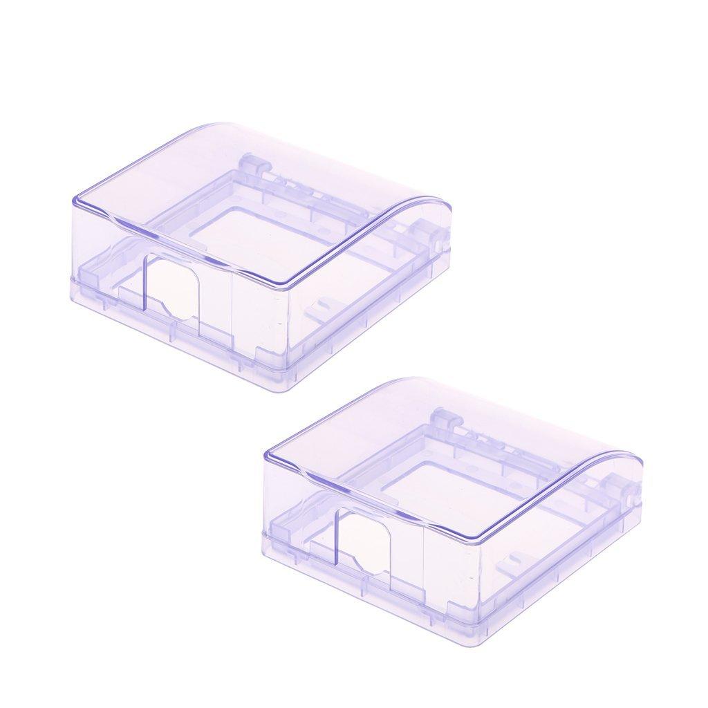 MagiDeal 2 Pieces Home-Mounted Switching Power Supply Panel,Waterproof Socket Flip Waterproof Enclosure Box Blue