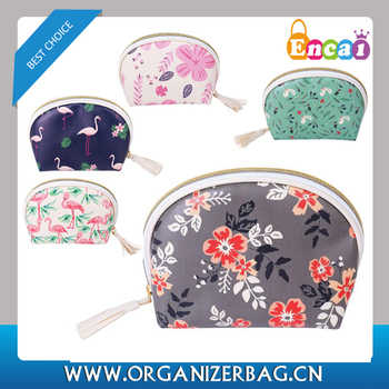 Encai Floral Printing Cosmetic Bag Cute Makeup Bag