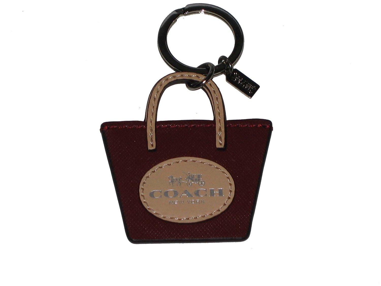 Coach Key Fob Mini Handbag Tote Maroon F62984 by Coach 109ef60d1