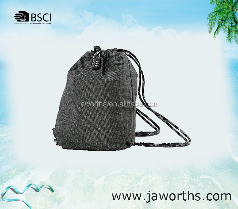 Water Resistant Gym Sackpack with Pockets 5 Colors drawstring gift bag for Choice
