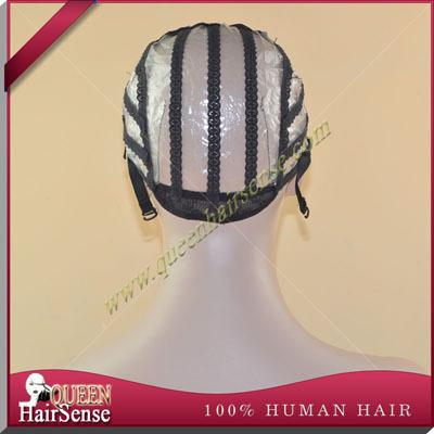 Парик шапки для изготовления париков регулируемые ремни швейцарский фронта шнурка cap парик плетения чистой наращивание волос