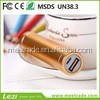 Colorful matel tupe lip portable charger mobile2600mAh gift mobile phone charger mobile power pack