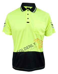 2018 hot sale fluorescence men's polo T-Shirt by own factory