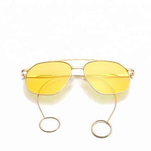 Sinle shades eyewear sunglasses women unique arm/temple sun glasses earrings glasses special sunglasses