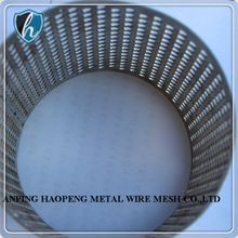 metal 304 316 perforated stainless steel wire mesh cylinder/tube filter