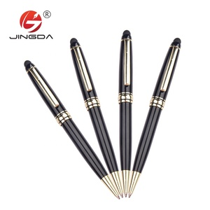 Black High Quality Parker ball point pen customized logo for luxury business gift metal pen