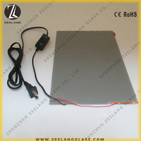 Smart light switchable self-adhesive pdlc film DC12V for wall decoration