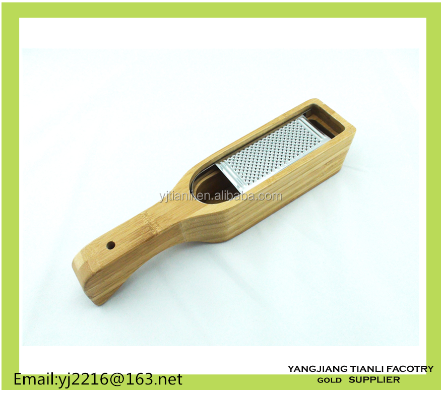 Kitchen Gadgets staInless steel Peeler Cheese Grater With wooden Container Set