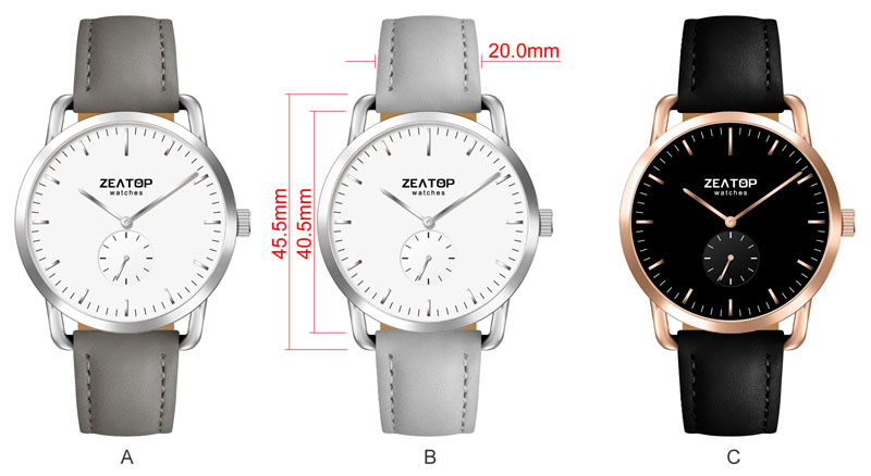 Nickel Free IP Plating Couple Black Fashion Watches