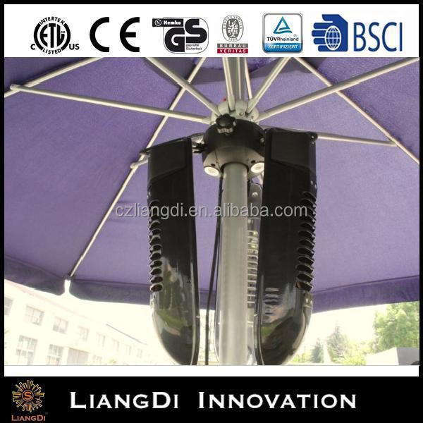 Electric Patio Umbrella Heater With 1500w And Led Lamp Product On