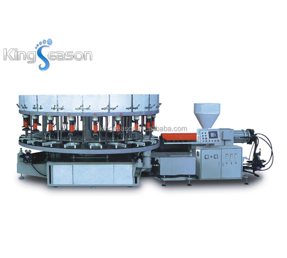 Single/Double Color Rotary Direct PVC safety shoe sole injection moulding machine