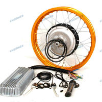 Electric bicycle motorcycle motor 3000w engine kits with gear and disc brake