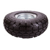 4.10/3-1/2-4-Inch Flat Free Hand Truck / Utility Tire with Sawtooth Tread, 4-Inch Centered Hub, 5/8-Inch Bearing, 10-1/2-Inch