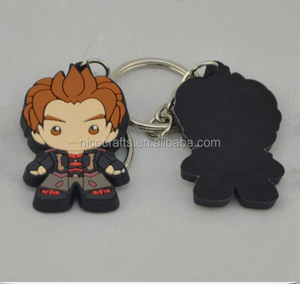 Fancy cute 2D custom PVC key chians/ for promotion