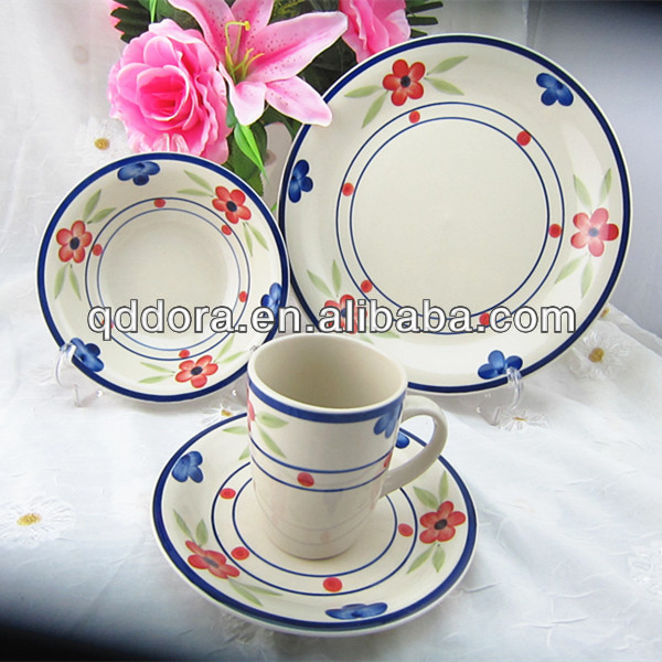 16pcs Hand Painted Ceramic Dinner Set