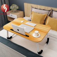 Foldable Laptop Table Height Adjustable Lap Desk Portable Bed Desk Laptop Stand for Lap and Writing Bed Tray Table for Couch