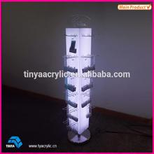 retailers general merchandise Modern slatwall cell phone accessory display rack,phone accessories display stand supplier