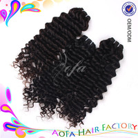 Premium quality no shedding grade 5a hair weave blonde deep curly