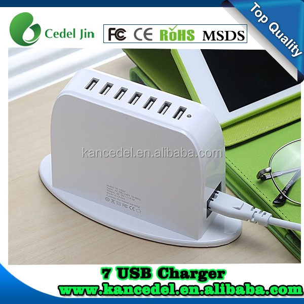 Cell phone smart Charger 7usb ports, fast charger with 7 USB port charger