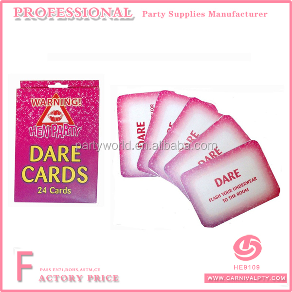 Girls Night Hen Do Party Games Dare Cards Pink Accessory Pack of 24 kids birthday party games wedding cards