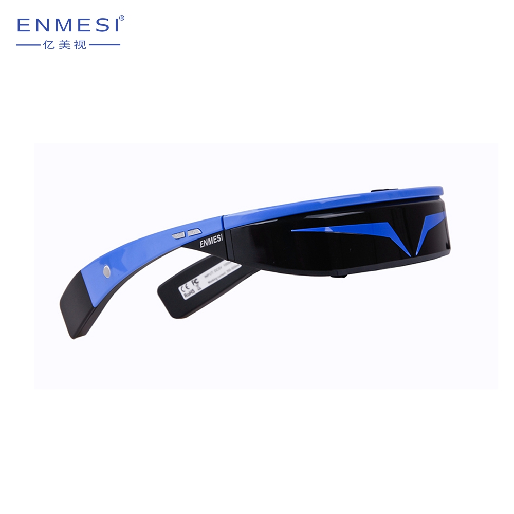 80Inch Smart Goggle Wearable 3D VR Porn Sex Video Glasses with Bluetooth