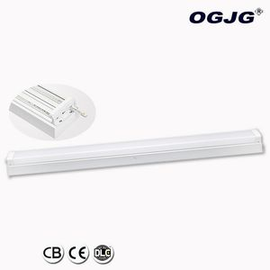 ETL subway station emergency surface mount flicker free batten lighting ticket office on/off dimming led linear ceiling light