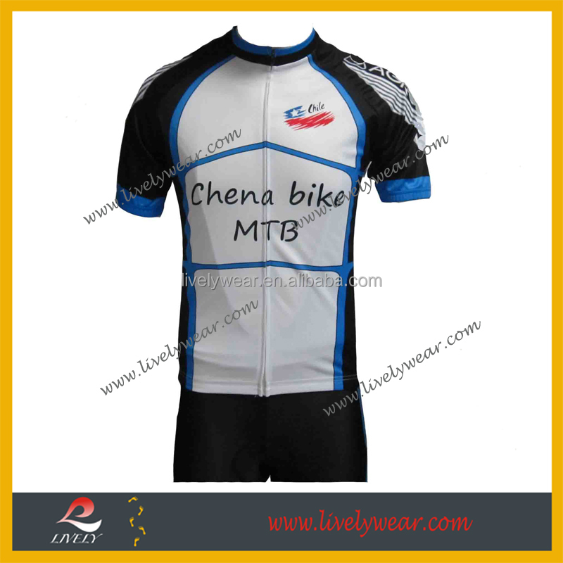 Livelywear--new model plus size sublimated bike accessories/ cycling clothing set