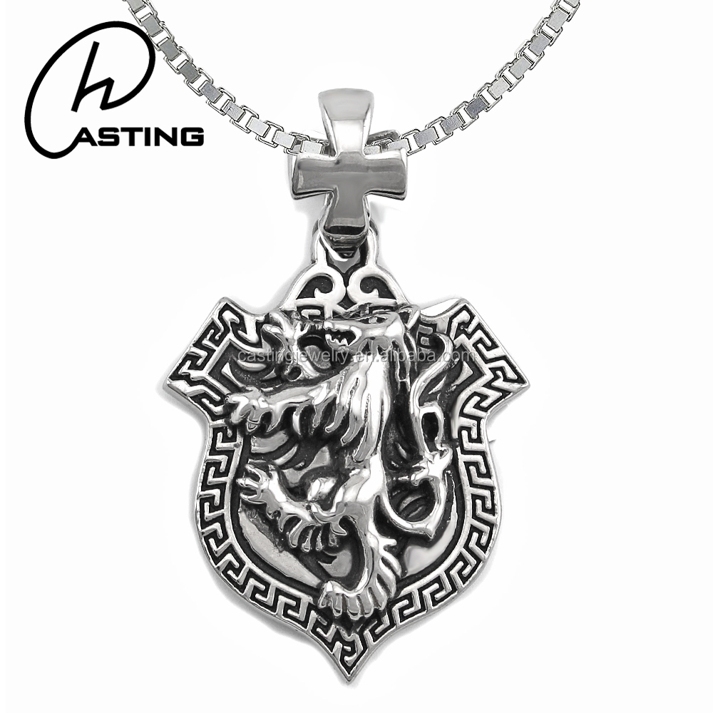 Creative Birthday Gifts Best Friends Biker Jewelry Lion Pendant