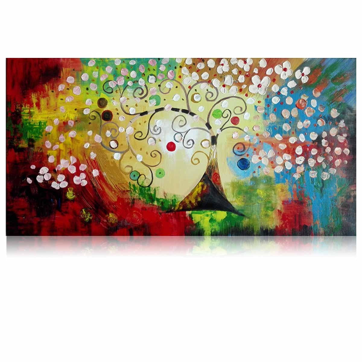 Buy Iarts Handpainted Oil Painting Abstract Art Tree Of Life For