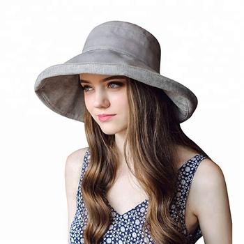 Summer Sun Anti-uv Women Foldable Wide Brim Custom Bucket Hat - Buy ... f032a73d0e