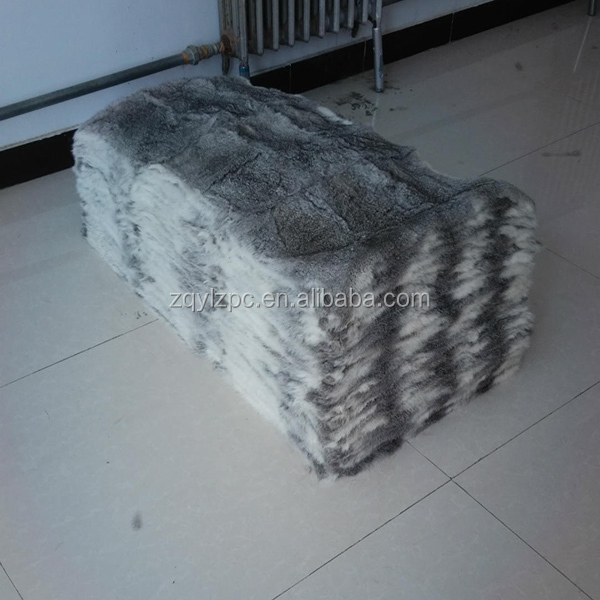 ALICEFUR China factory wholesale price tanned rabbit skins real rabbit fur plate