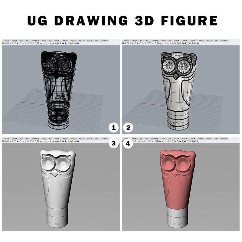 Silicone travel bottles WITH SUCKER UG DRAWING 3D FIGURE