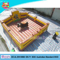 Rodeo Bull Inflatable, Mechanical Bull Bouncer Mat, Riding bull