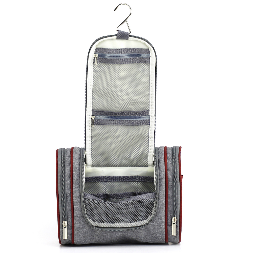 2 Tone Custom Travel Water Resistant Bathroom Hanging Toiletry bag Cosmetic Organizer for wholesale