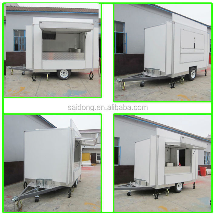Customized Mobile Coffee Trailer Pizza Truck Hot Dog Van For Sale