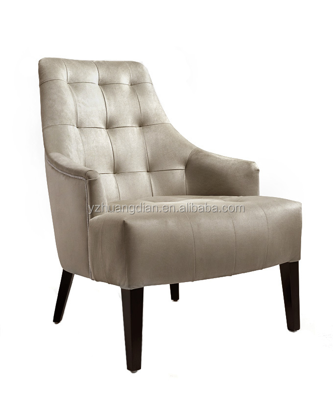 Comfortable hotel chiar with button leather lounge chair YG7009